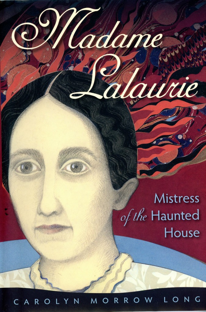 Long  has a degree in studio art and did the cover for her books on Laveau and Lalaurie.