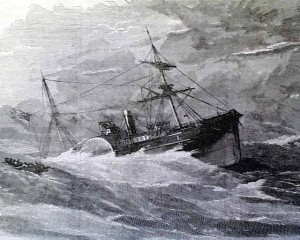 The sinking of the Evening Star.